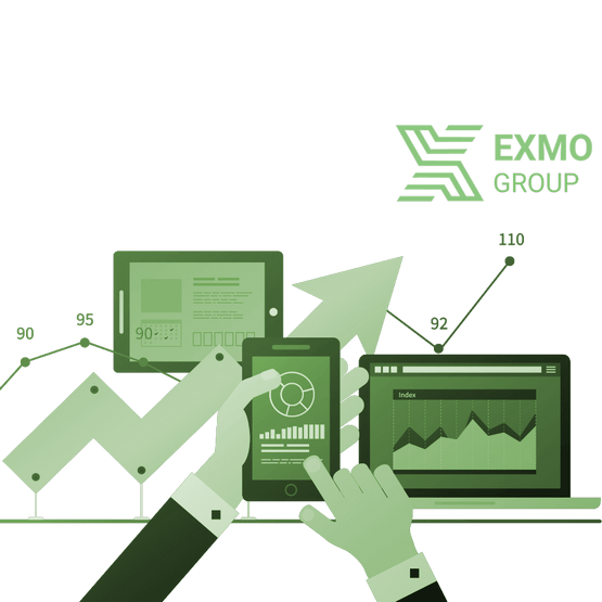 exmo group - Создание landing page
